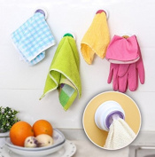 2Pcs Wash Cloth Clip Holder Dishclout Storage Rack Bath Room Stand Towel Rack