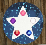 Crystal Gem Star 150cm Round Microfiber Beach Towel
