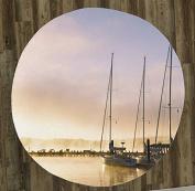 Sailboats at Sunset 150cm Round Microfiber Beach Towel