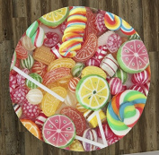 Candy Candy Everywhere 150cm Round Microfiber Beach Towel