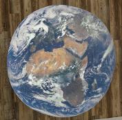 The Planet Earth 150cm Round Microfiber Beach Towel