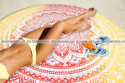 Popular Mandala Round Roundie Tapestry Towel Beach Throw Cover Coverlet Design By Bohomandala