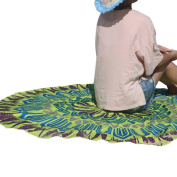 Beach Towel,OUBAO Round Hippie Tapestry Beach Throw Roundie Mandala Towel Yoga Mat