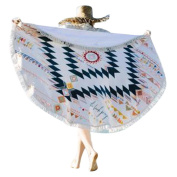 Beach Towel,OUBAO Beach Throw Roundie Mandala Towel Yoga Mat Bohemian Featur