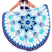 Beach Towel,OUBAO Beach Throw Roundie Mandala Towel