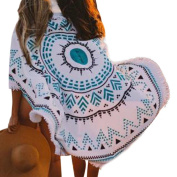 Beach Towel,OUBAO Round Hippie Tapestry Beach Throw Roundie Mandala Towel