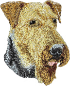 Airedale Terrier, Embroidery, patch with the image of a dog