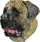 English Mastiff, Embroidery, patch with the image of a dog