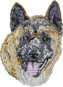 Akita Inu, Embroidery, patch with the image of a dog