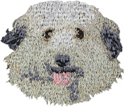Pyrenese Herder, Embroidery, patch with the image of a dog