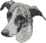 Greyhound, Embroidery, patch with the image of a dog