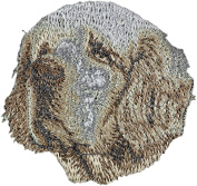 Clumber Spaniel, Embroidery, patch with the image of a dog