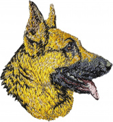 German Shepherd, Embroidery, patch with the image of a dog