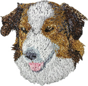 English Shepherd, Embroidery, patch with the image of a dog