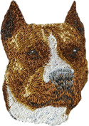 American Staffordshire Terrier, Embroidery, patch with the image of a dog