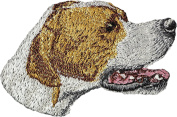 English Pointer, Embroidery, patch with the image of a dog