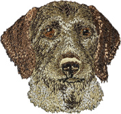 German Wirehaired Pointer, Embroidery, patch with the image of a dog