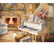 Fipart DIY diamond painting cross stitch craft kit. Wall stickers for living room decoration.piano