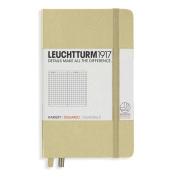 Leuchtturm1917 Pocket Size Hardcover Squared Notebook, Sand
