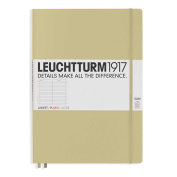 Leuchtturm1917 Slim Master Size Hardcover Lined Notebook, Sand
