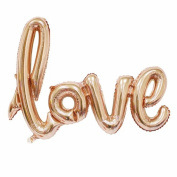 B-G 80cm Love Balloon Banner (2pcs) Romantic Wedding Bridal Shower Anniversary Engagement Party Decoration Vow Renewal Champagne Balloon BA011C