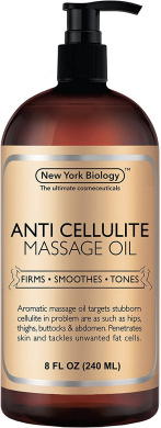 Anti Cellulite Treatment Massage Oil - All Natural Ingredients – Penetrates Skin 6X Deeper Than Cellulite Cream - Targets Unwanted Fat Tissues & Improves Skin Firmness – 240ml