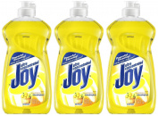 Joy Ultra Dishwashing Liquid, Lemon Scent, 370ml-3 pk