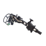 SAS 5 Pin .48cm Bow Sight with Micro Adjust Detachable Bracket LED Sight Light