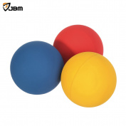 """JBM Racquetball Squash 5.5cm / 2.17"""" Rubber 1 Red 1 Blue 1 Orange Balls in a Net 65-70% Rebound Rate Highly Visible for Racquetball Game Practise Training"""