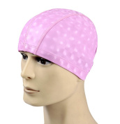 Eforstore Unisex Adult Solid Lycra Fabric Swim Cap PU Coating Cover Waterproof and Breathable Swimming Cap