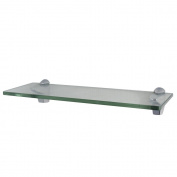 XVL 36cm Bathroom Glass Shelf, Chrome GS3004B