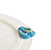 Nora Fleming Ceramic Mini For Platter- Flip Flops