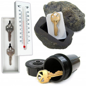 Stalwart 72-KEYSET-A Hide A Key Set with Rock, Thermometer & Sprinkler