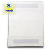 """Universal Wall Mount Sign / Memo Holders By ClearView. [Set of 8] Crack & Scratch Resistant – Commercially Rated. Holds Standard 8.5"""" X 11"""" Paper. Use On Any Surface. 12 Month Manufacturers Warranty."""