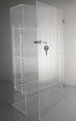 T'z Tagz Brand Acrylic Lucite Showcase with ADJUSTABLE SHELVES Jewellery Pastry Bakery Counter Display W/door & Lock