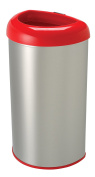 Nine Stars 50l / 50 L, Red, Stainless steel, Open Top Trash Can