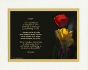 "Personalised Friend Gift with ""Thank You Prayer for Friend"" Poem. Tulips Photo, 8x10 Double Matted. Special Birthday or Christmas Friendship Gifts."