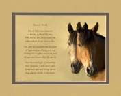 "Friend Gift. Horses Photo with ""Gift of Friendship"" Poem"