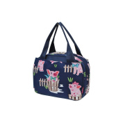 Happy Pig Town Print NGIL Insulated Lunch Bag