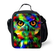 Showudesigns Designer Zoo Owl Lunch Handbag Outdoor Food Bags