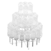 3 Tier-clear Acrylic Push Pop Cake Stand