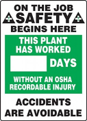 ON THE JOB SAFETY BEGINS HERE THIS PLANT HAS WORKED #### DAYS WITHOUT AN OSHA RECORDABLE INJURY ACCIDENTS ARE AVOIDABLE