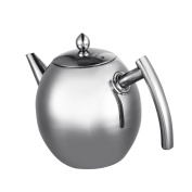 1.5L Stainless Steel Teapot Silver Coffee Pot With Filter Infuser Large Capacity