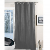 Thermal Eyelet Curtain Thermal Curtain with Eyelets Opaque - Wind and Kälteabweisend - - Black, Brown, Size
