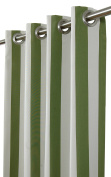 India House Sunbrella Outdoor/Indoor Curtain Panel Maxim Cilantro with 8 Stainless Steel Grommet, 130cm by 270cm
