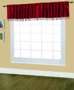 Editex Home Textiles Elaine Lined Pinch Pleated Valance, 120cm by 46cm , Burgundy