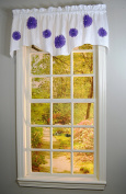 Curtain Chic Rhinestone Bloomers Lined Valance, Purple