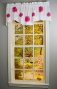 Curtain Chic Rhinestone Bloomers Lined Valance, Pink