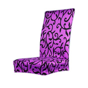 F-eshion Stretch Short Removable Dining Room Stool Chair Cover Slipcovers