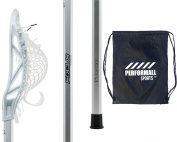 East Coast Dyes Complete Lacrosse Stick Mirage Head strung with HeroMesh on a FOCUS Attack 80cm Shaft with 1 Performall Sports Drawstring Bag